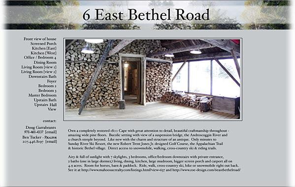 Client: 6 East Bethel Road<br>Service: Site Design and Implementation (Fast Track)<br>Status: Live<br>Site: www.zoe-design.com/6eastbethelroad