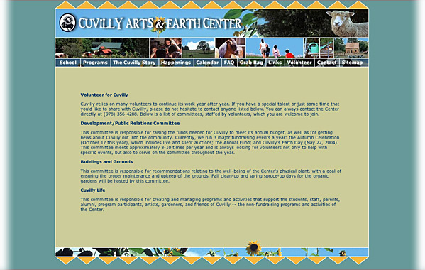 Client: Cuvilly School<br>Service: Site Design and Implementation<br>Status: Maintained and Updated by Client