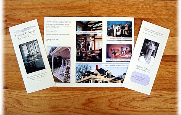 Client: Helen F. Sides Architect<br>Service: Trifold Brochure Design