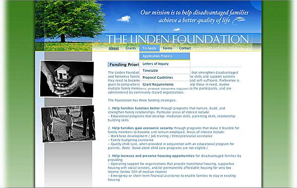 Client: Linden Foundation<br>Service: Site Design &amp; Implementation<br>Status: Live<br>Site: www.lindenfoundation.org